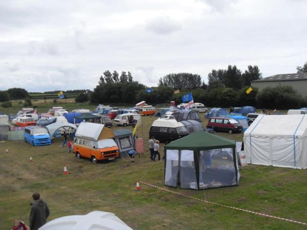 Photo - Blackpool's glorious weather shines down upon the campsite
