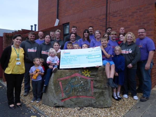 Photo - 2015 cheque for Brian House Children's Hospice