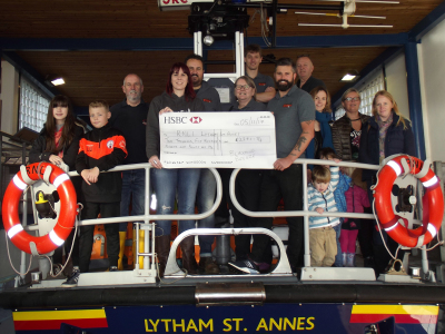 Photo - The Breeze team handing over a cheque to the RNLI, Lytham St Ammes