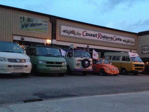 Photo - A few of the dubs parked up at the diner